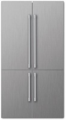 """36"""" 4 Door Refrigerator, Stainless"""