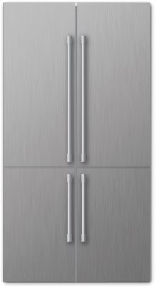 "36"" 4 Door Refrigerator, Stainless"