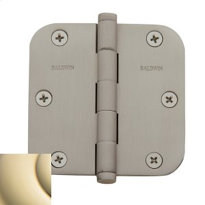 "Lifetime Polished Brass 5/8"" Radius Corner Hinge Product Image"