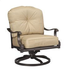 Swivel Rocking Lounge Chair Sunbrella #5476 Heather Beige