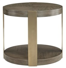 Profile Round Chairside Table in Warm Taupe (378)