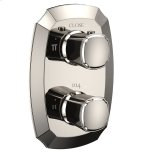 TotoGuinevere(R) Thermostatic Mixing Valve with Two-Way Volume Control Trim - Polished Nickel