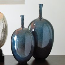 Ovoid Vase-Celestial-Lg