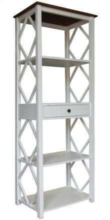 Book Shelf, Available in Hampton White Finish Only.