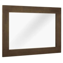 Everly Wood Frame Mirror in Walnut