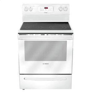 "BOSCH30"" Electric Freestanding Range 300 Series - White HES3023U"