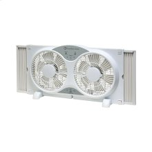 CZ310R 9-inch Twin Window Fan with Remote, White