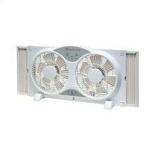 CZ310R 9-inch Twin Window Fan with Remote, White