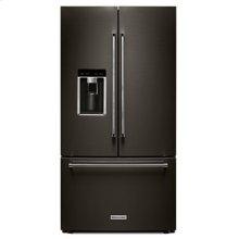 "23.8 cu. ft. 36"" Counter-Depth French Door Platinum Interior Refrigerator with PrintShield™ Finish - Black Stainless"