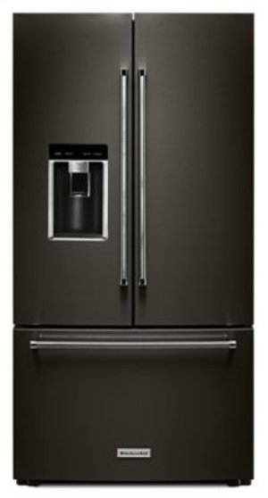 "Almost Blemished - 23.8 cu. ft. 36"" Counter-Depth French Door Platinum Interior Refrigerator with PrintShield Finish - Black Stainless"