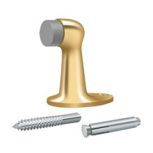 """Floor Door Bumper 2-7/8"""", Solid Brass - PVD Polished Brass"""