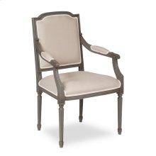*Louis Xvi Squared Arm Chair,Grey,Flax