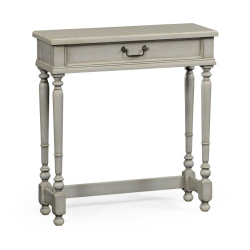 Grey Painted Rectangular Side Table