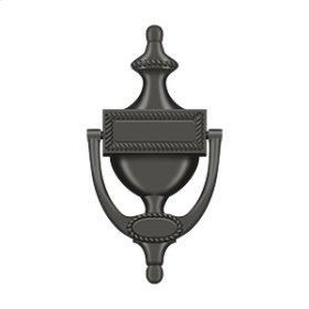Door Knocker, Victorian Rope - Oil-rubbed Bronze