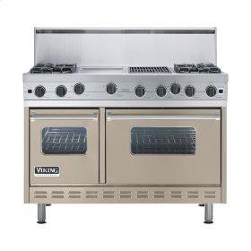 "Taupe 48"" Open Burner Range - VGIC (48"" wide, four burners 12"" wide griddle/simmer plate 12"" wide char-grill)"