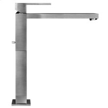 """Tall single lever washbasin mixer with pop-up assembly Extended spout projection 8-3/8"""" Height 11-11/16"""" Includes drain Max flow rate 1"""