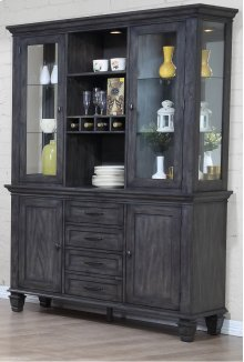 Sunset Trading Shades of Gray China Cabinet - Sunset Trading