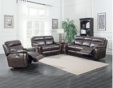 "Dakota Recliner Sofa, Cafe Noir 87""x40""x40"""