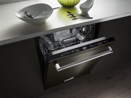 44 dBA Dishwasher with Dynamic Wash Arms and Bottle Wash - Black Stainless