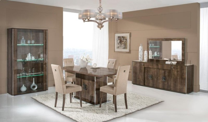 Hidden Additional Modrest Athen Italian Modern Dining Set