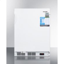 ADA Compliant Built-in Undercounter Vaccine All-freezer With Digital Thermostat, Temperature Alarm, Hospital Grade Cord, Self-closing Door, and Front Lock