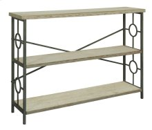 Key Largo Seafoam Green Console with Antique White Wood Shelves
