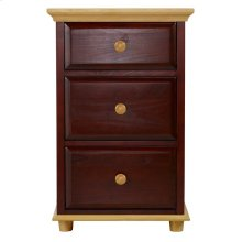 3 1/2 Drawer Dresser w/ Crown & Base - Two Tone