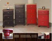 "33"" tall, 3 drawer chest, BLACK finish"