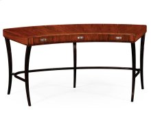 Art Deco Curved Desk for Drawers and Stainless Steel Handles (High Lustre)