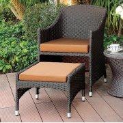 Almada Arm Chair W/ Nesting Ottoman Product Image
