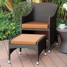 Almada Arm Chair W/ Nesting Ottoman