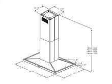 "Optional Long Chimney Extension Kit for 9'0 - 12'0"""