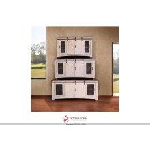 "60"" TV Stand w/4 doors & Shelves inside"