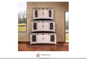 "70"" TV Stand w/4 doors & Shelves inside"