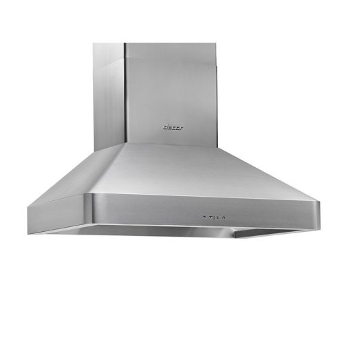 "Heritage 30"" Chimney Wall Hood, Silver Stainless Steel"