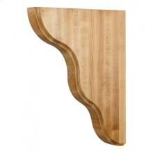 "1-3/4"" x 10-1/2"" x 13-1/8"" Smooth Contour Bar Bracket, Species: Rubberwood"
