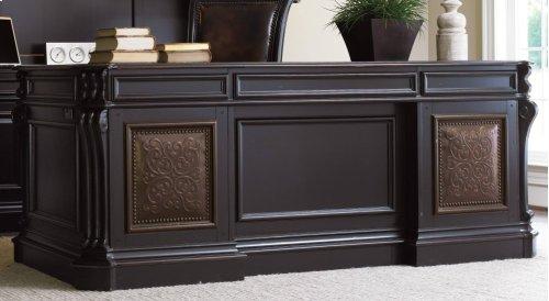 "Telluride 76"" Executive Desk w/Leather Panels"