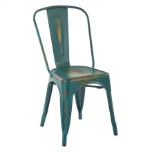 Bristow Armless Chair, Antique Tourquoise, 2 Pack