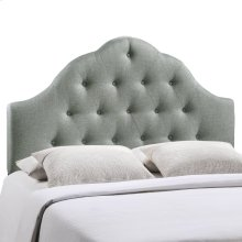 Sovereign Queen Upholstered Fabric Headboard in Gray