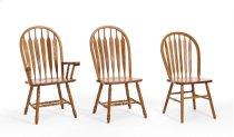 Classic Oak Detailed Arrow Arm Chair Product Image
