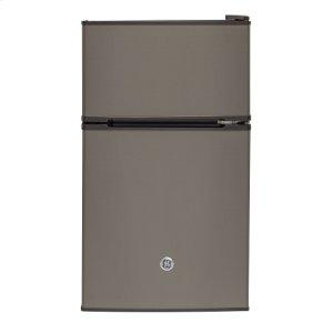 GE Double Door Compact Refrigerator 3.1 cu ft Slate