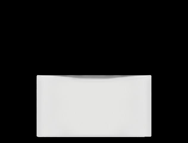 Luxury-Glide(R) Pedestal with Spacious Storage Drawer  WHITE