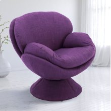 Rio Purple (Purple) Fabric -360 Degree Swivel -Wing Arms -Padded Seat -All Steel Construction -Quality Fabric Cover