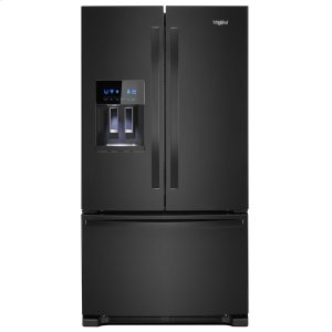 36-inch Wide French Door Refrigerator - 25 cu. ft. - BLACK
