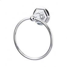 Edwardian Bath Ring Hex Backplate - Polished Chrome