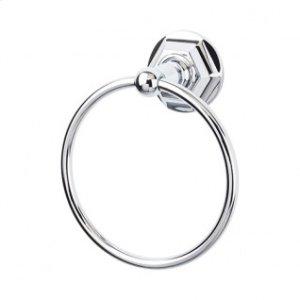 Edwardian Bath Ring Hex Backplate - Polished Chrome