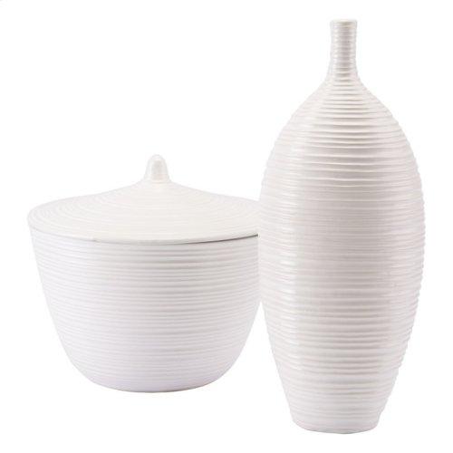 Hat Tall Vase White