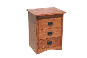 O-M314 Mission Oak 3-Drawer Night Stand