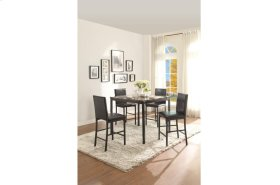5 Piece Counter Height Table, Faux Marble Top with Four Stools
