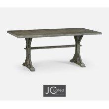 "72"" Solid Antique Dark Grey Dining Table"
